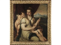 venus blinding love by titian (tiziano vecelli)