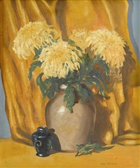 flowers in a pot by jane peterson