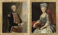 portrait of benedetto maurizio di savoia, duca del chiablese and marchese d'ivrea (+ portrait of marianna di savoia, duchessa del chiablese; pair) by italian school-piedmont (19)