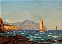 sunny weather at a southern european coast by carl (jens erik c.) rasmussen