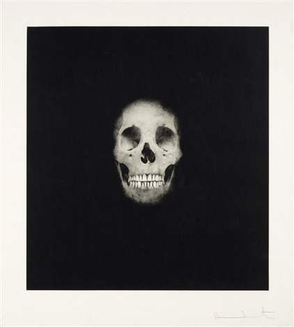 skull ii (from i once was what you are, you will be what i am) by damien hirst