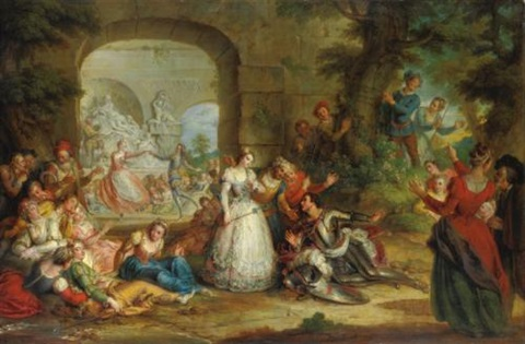 roland and the marriage of angelique by charles antoine coypel