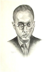 self portrait by wyndham lewis