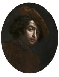 ritratto di giovane con berretto a 'tagliere' by cesare dandini