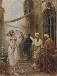 a dancer in an arabian street by fabio fabbi
