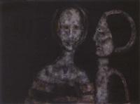 deux personnages - les yeux sont jaunes by paul rambié