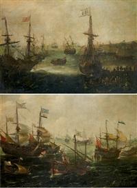 batailles navales by andries van eertvelt