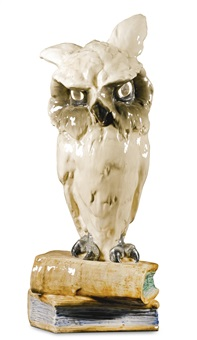lamp in the form of an owl by ferdinand doblinger