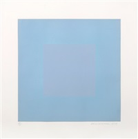 winter suite (light blue with silver) by richard anuszkiewicz