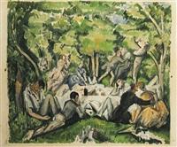 le déjeuner sur l'herbe by paul cézanne