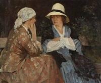 two girls by herman albert gude vedel