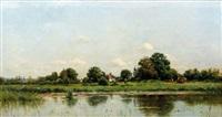 pâturage près de l'étang by adrien jacques sauzay
