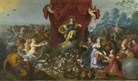 le monde rendant hommage à apollon by hans jordaens iii