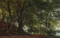 forest scene from sorø, denmark by carl frederik peder aagaard
