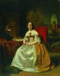 dame in interieur by johann cornelius mertz