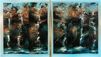 double concert for falling water (diptych) by david john voight