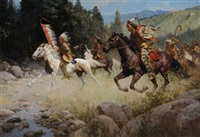 riding hard to reclaim their lands, 1868 by z.s. liang