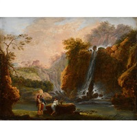 waterfalls at terni by claude louis châtelet