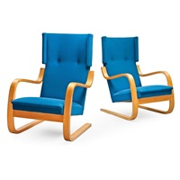 armchairs no 36/401 (pair) by alvar aalto