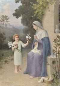 l'offrande à la vierge by etienne azambre