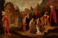 two religious scenes (2 works) by rombout van troyen