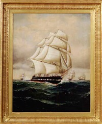 portrait of a full-rigged ship by william gay yorke