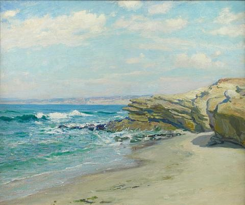 la jolla beach by guy rose