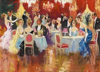 champagne and dancing at casino de monte-carlo by edward cucuel