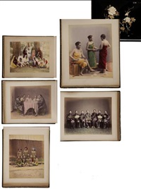 chine, bangkok, singapour, ceylan, malaisie types, portraits, scènes de rue, vie quotidienne, études de plantes (album w/46 works) by charles t. scowen (scowen & co.)