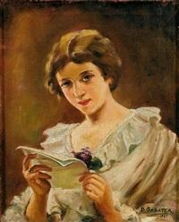 retrato de dama by daniel sabater y salabert