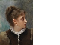 reflective mood by gustave jean jacquet