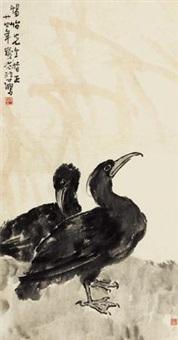 鱼鹰图 by xu beihong