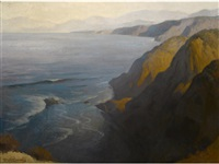 california coastal scene by charles percy austin