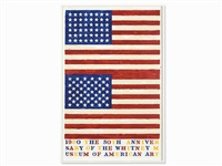 two flags - whitney anniversary by jasper johns