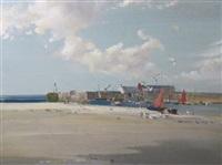 low tide, lyme regis by vernon ward
