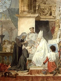 taking the veil at the monastery of barbino iesu by karl pavlovich bryullov
