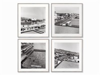rooftops series (4 works) by ed ruscha