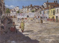 auf der insel burano by l. rosa