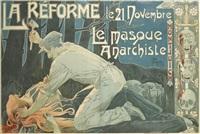la reforme/le masque anarchiste by henri privat-livemont