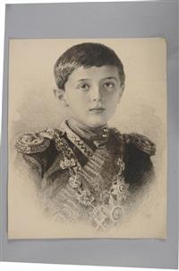 portrait du tsarévitch alexis nicolaïévitch de russie by mikhail rundaltsov
