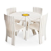 five-piece garden furniture set aurinko by alvar aalto