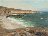 calm day along the california coast by charles partridge adams