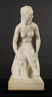 desnudo femenino sentado by juan de avalos