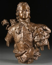 bust of peter i by bartolomeo carlo rastrelli