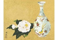 white camellia and pot by yuki ogura