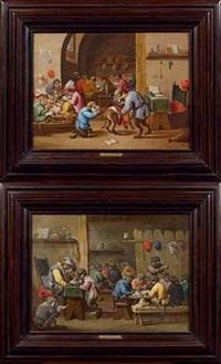 l'école des singes (pair) by abraham teniers