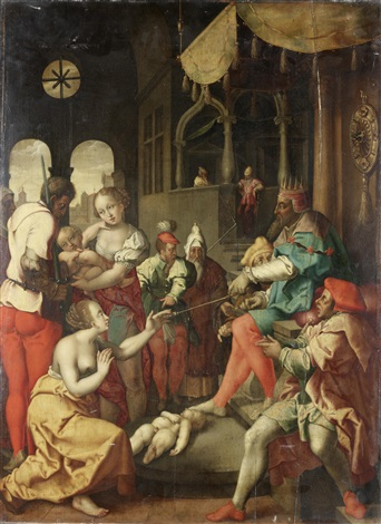 the judgment of solomon (after engraving by heinrich aldegrever) by flemish school (16)