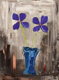 still life - purple flowers by colin flack