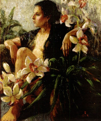 nude and floral study by julie ford oliver