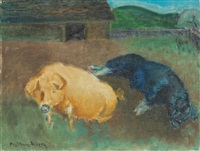 two pigs by milton avery